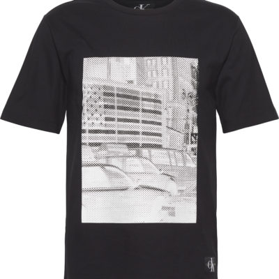 Calvin klkein t-shirt met print zwart