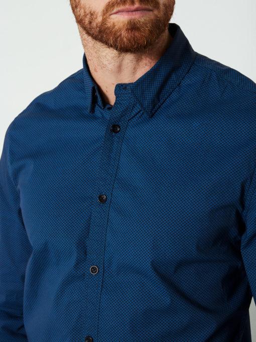 Petrol Industries Overhemd Subtiele Stippen blauw