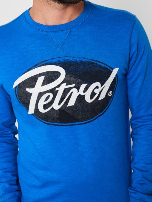 Petrol Industries Sweater Logo Ovaal blauw