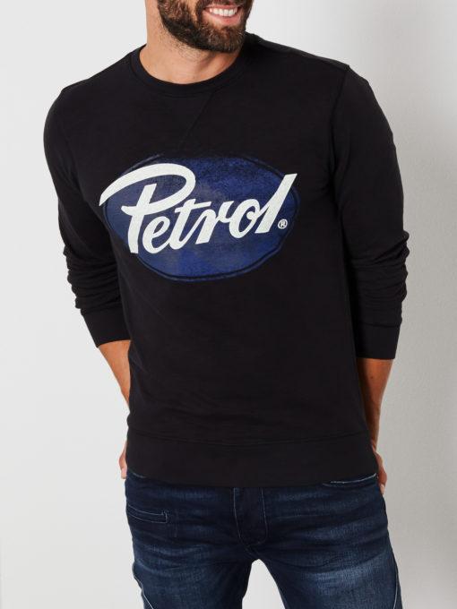 Petrol Industries Sweater Logo Ovaal zwart