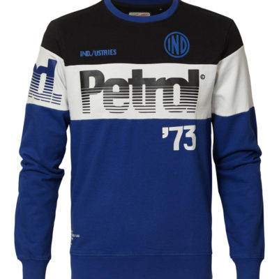 Petrol Industries Sweater Racing blauw