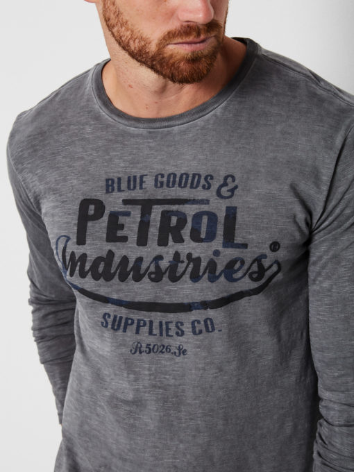 Petrol Industries T-shirt Vintage look Lange Mouwen steal