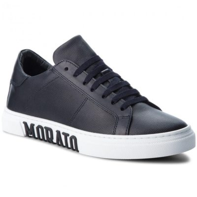 Antony Morato Sneaker In Micro-printed Nappa Leather
