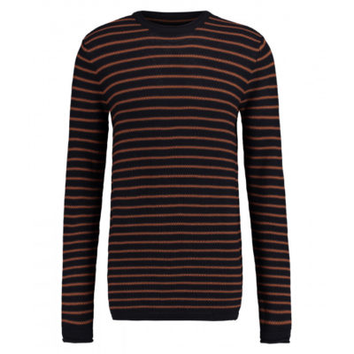 Kultivate Pullover Melvin Stripe dark navy