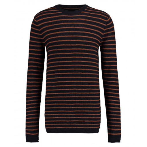 Kultivate Pullover Melvin Stripe dark navy
