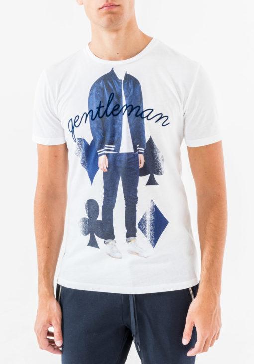 Antony Morato Crew-neck T-shirt met Print wit