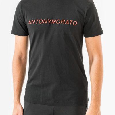 Antony Morato Crew-neck T-shirt met Logo zwart