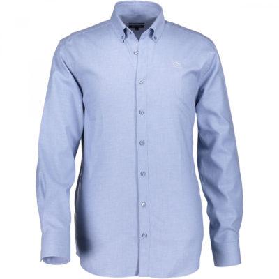 State of Art Mintblauw Overhemd van Katoen lichtblauw