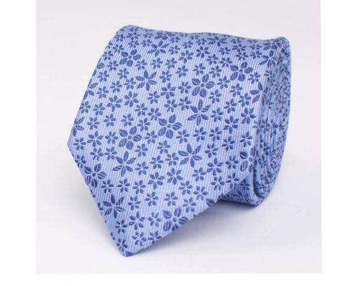 Tresanti Stropdas met Bloemen licht blauw