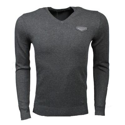 antony morato sweater met v-hals grijs