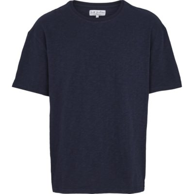 just junkies t-shirt blauw oversized