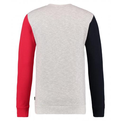 Kultivate trui colormix grijs rood blauw,