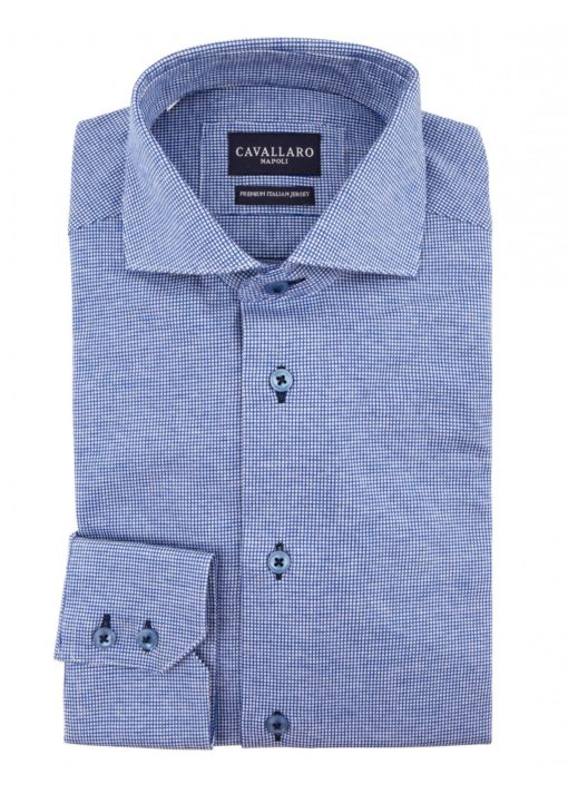 Cavallaro napoli overhemd blauw