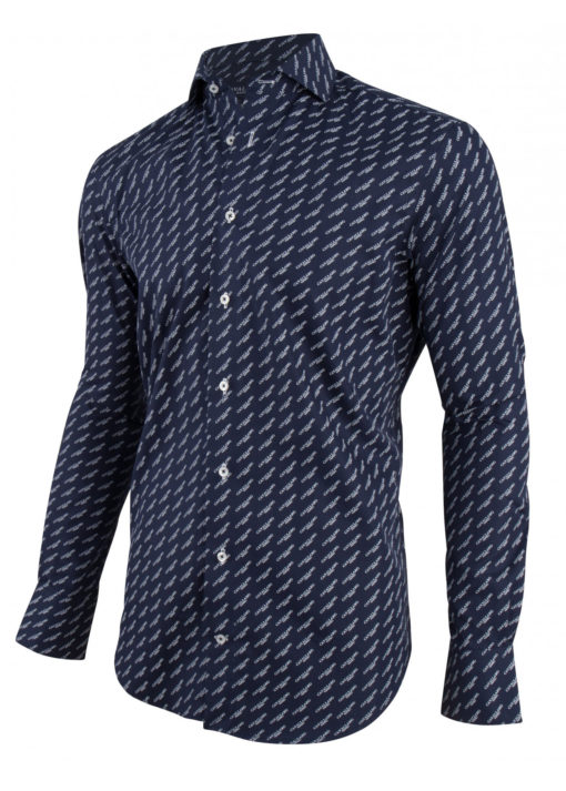 Cavallaro napoli overhemd donkerblauw