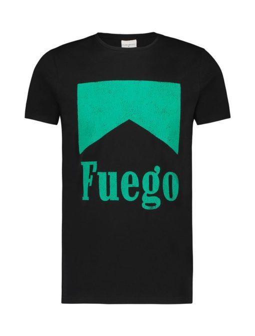 Purewhite t-shirt zwart groen