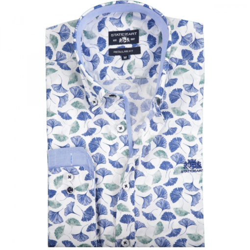 state of art overhemd groen blauw allover print