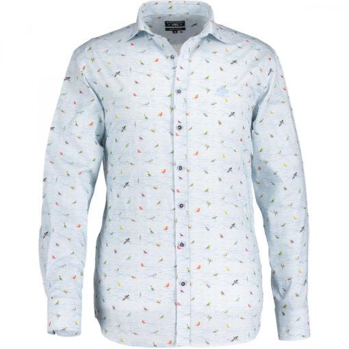 State of art poplin overhemd vogeltjes print