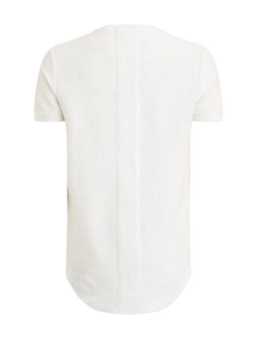 purewhite t-shirt wit ribbed