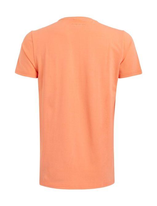 Purewhite t-shirt print coral