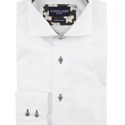 Cavallaro napoli overhemd wit donkergroen