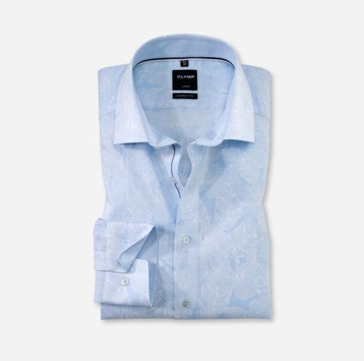 olymp overhemd wit blauw