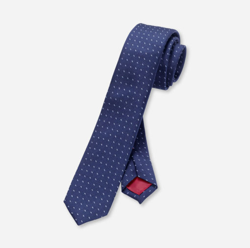 olymp stropdas superslim marineblauw