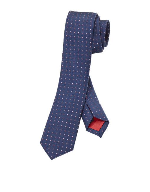 olymp stropdas superslim blauw rood
