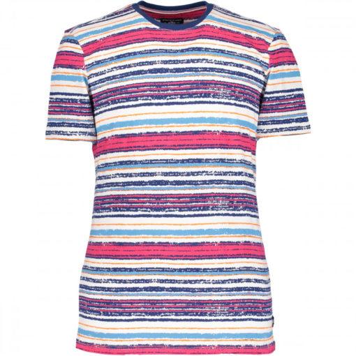 State of Art t-shirt gestreept roze kobalt,