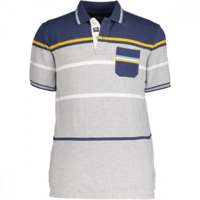 State of art polo grijs blauw