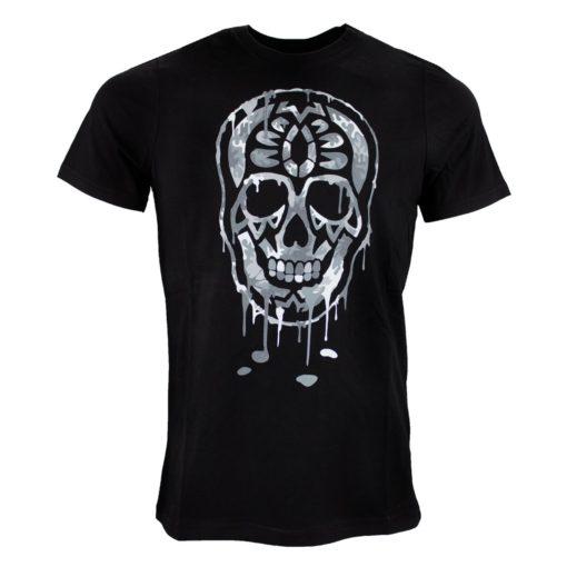black and gold t-shirt zwart\