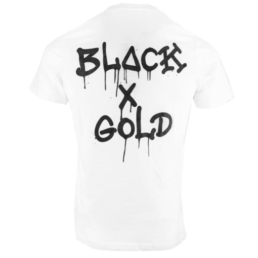 BLack and gold t-shirt wit
