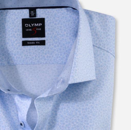 Olymp overhemd bodyfit wit blauw