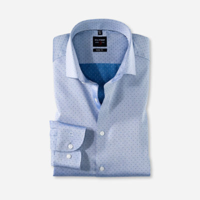Olymp overhemd bodyfit koningsblauw
