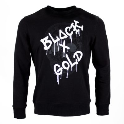 Black and Gold Sweater zwart wit
