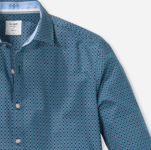 olymp overhemd bodyfit casual mint