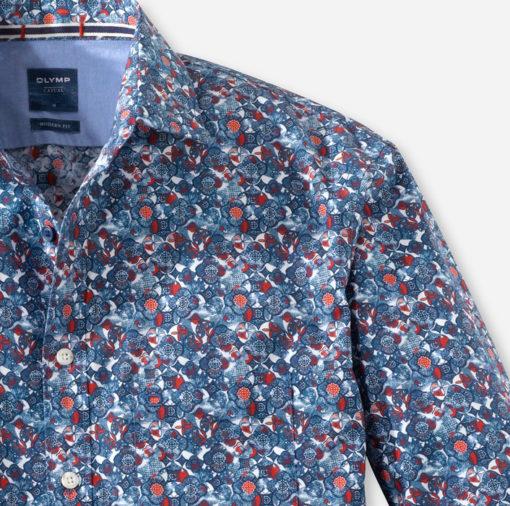 olymp overhemd casual rood, blauw