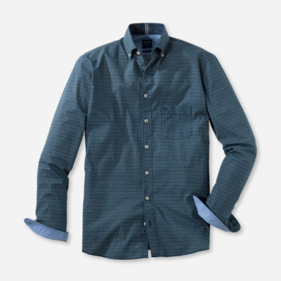 olymp overhemd casual groen
