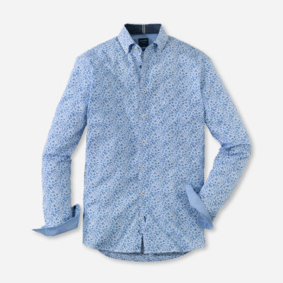 olymp overhemd casual marine blauw