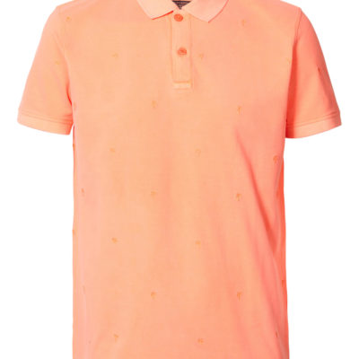 Petrol industries polo fiery coral
