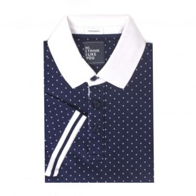 tresanti polo all-over print blauw