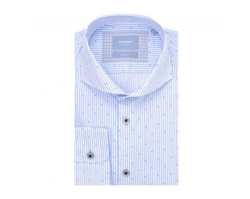 tresanti overhemd wit/blauw