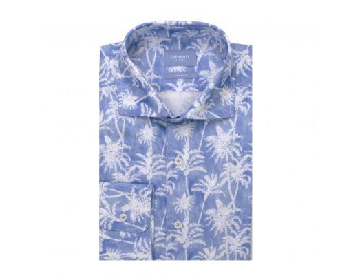Tresanti overhemd blauw palmprint