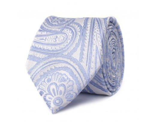 tresanti stropdas lichtblauw print