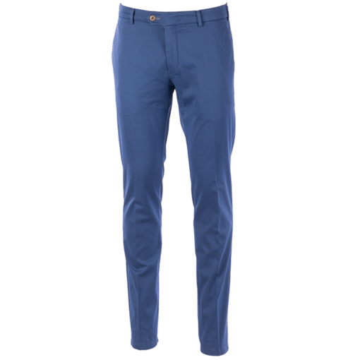 MMX Lupus Pima cotton satin chinos licht blauw