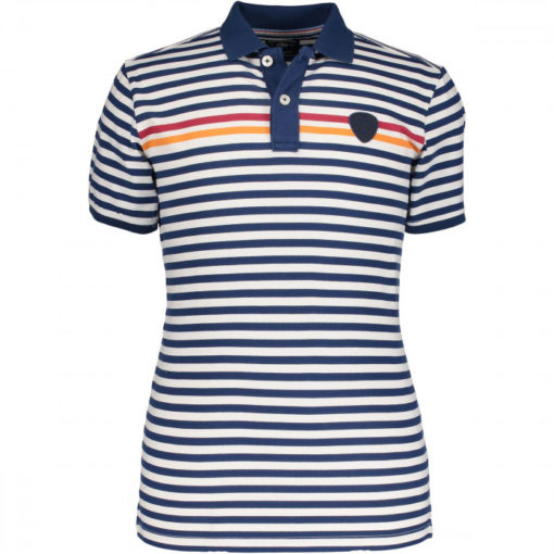state of art polo gestreept wit blauw