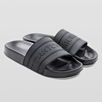 ANTONY MORATO CONTOURED SLIPPERS WITH LOGOED RUBBER STRAP