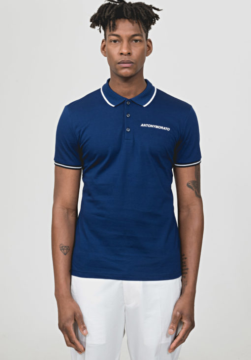ANTONY MORATO POLO SHIRT WITH EMBOSSED LOGO