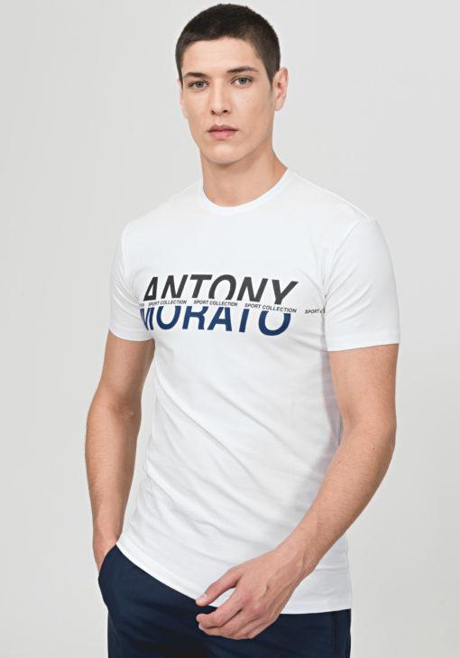 ANTONY MORATO T-SHIRT WITH TWO-TONE LOGO PRINT