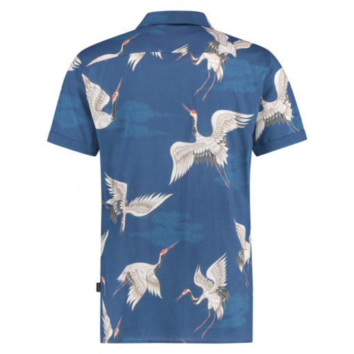 kultivate overhemd bluaw met print