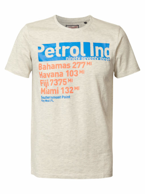petrol industries t-shirt grijs